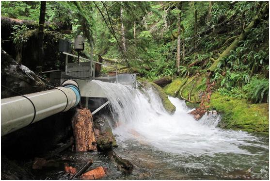 (Burton Creek Hydro Intake) (Courtesy of Sam Perry)