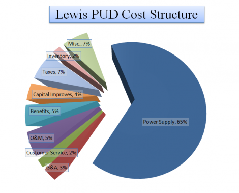 Pie chart of Lewis PUD Cost Structure percentages