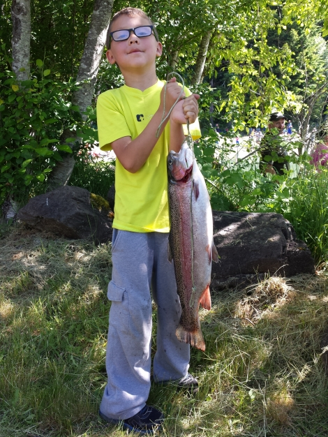 "Our 2015 Winner: Nic Perdomo, Age 7 with a fish weighing 5.02lbs & 23.5"" long"